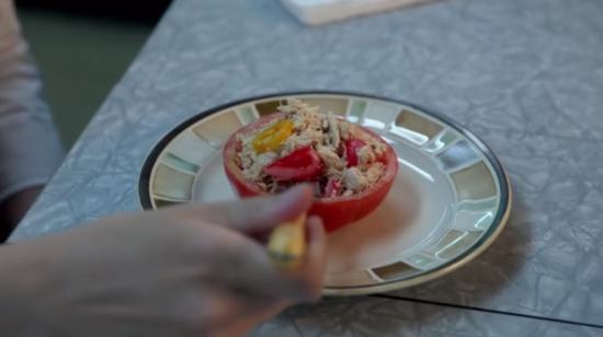 tuna brain food izombie tomato