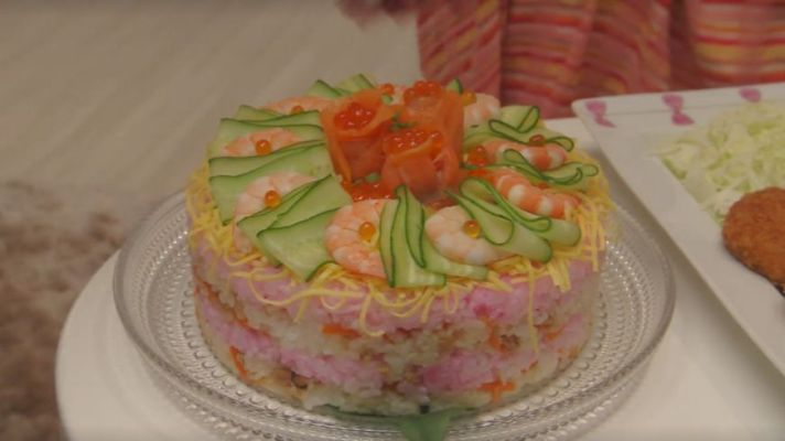 Sushi Cake Good Morning Call Japan Food