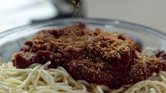izombie food brain spaghetti