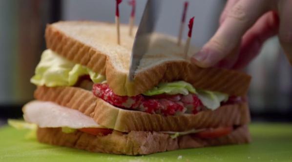 BLT sandwich iZombie Pour Some Sugar Zombie Brains Food