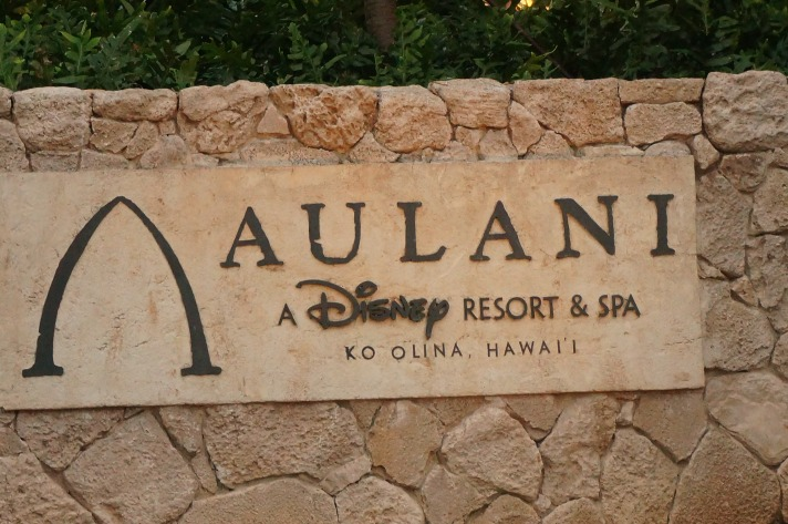 Aulani Disney Resort Sign