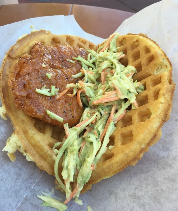 chicken waffle disney food