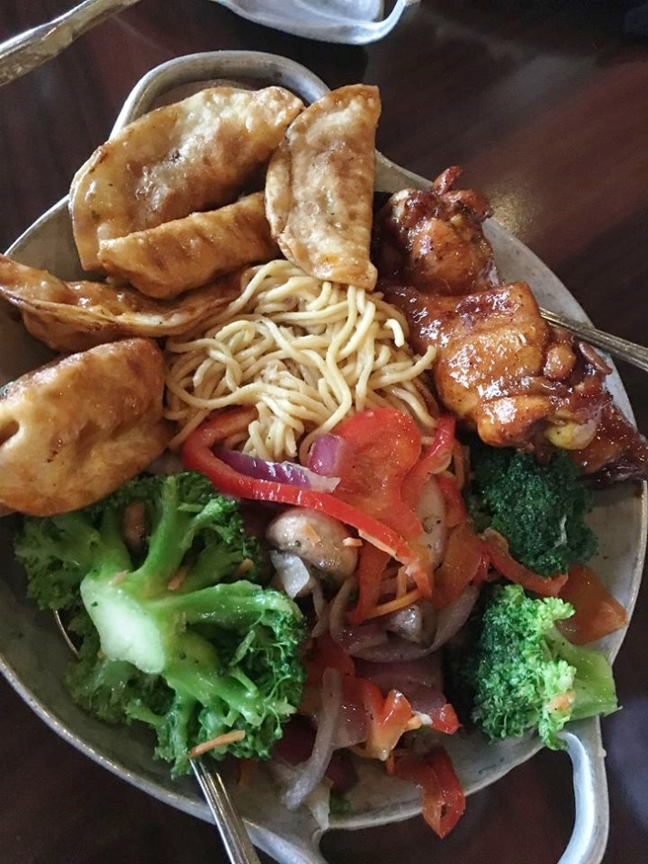 Ohana Dinner Disney Dumplings Noodles Vegetables Wings