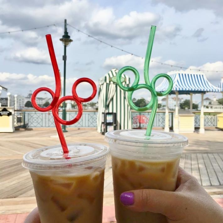 Mickey Straw French Vanilla Coffee